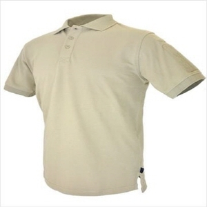 Tactical Velcro-Arm-Patch Plain-Front Breathable Shirt